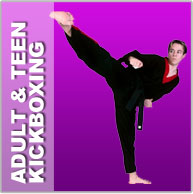 Teen adult kickboxing and karate classes