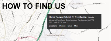 How to find Hicks Karate
