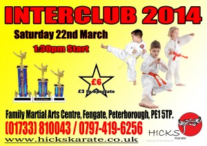 Interclub No 2 - 15th March 2014 - Hicks