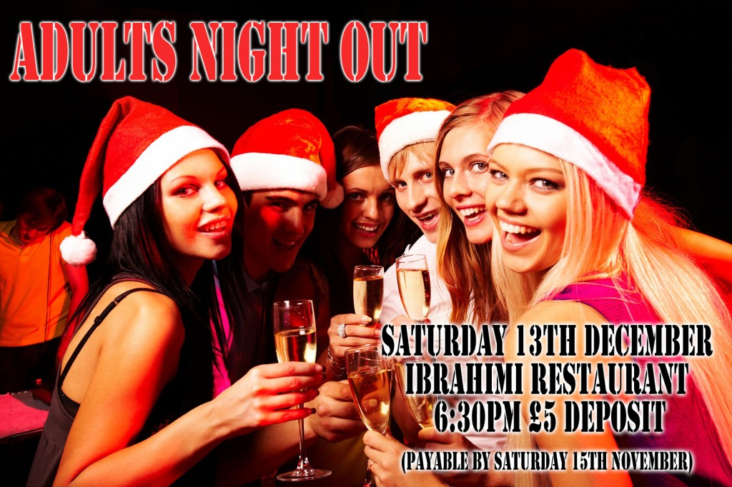 adults christmas party poster